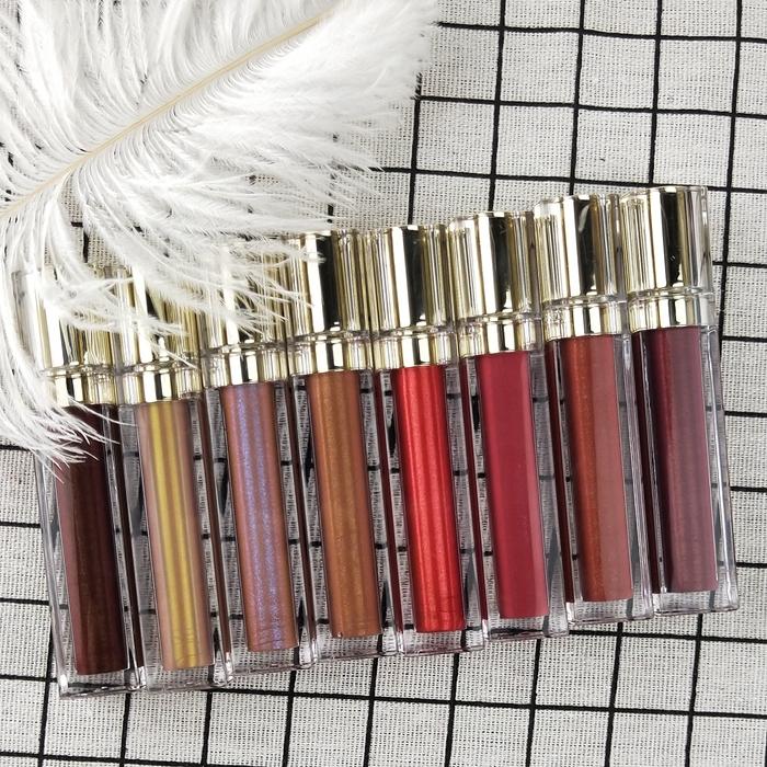 Wholesale Shiny OEM Cosmetics Lipgloss with Multi Color Glossy Lip gloss фото