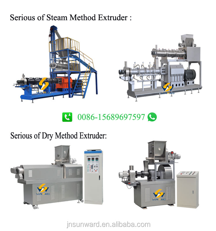 Global service small floating fish feed extruder machine for fish farm