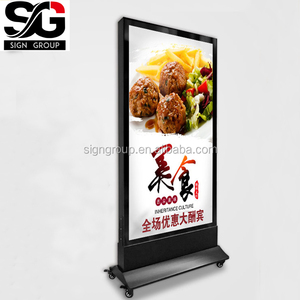 Outdoor double sided Aluminium material LED scrolling advertising standing light box