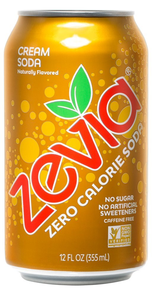 Zevia Zero Calorie Cream Soda, Naturally Sweetened, 12 Ounce Cans (Pack of 24) (Packaging May Vary)