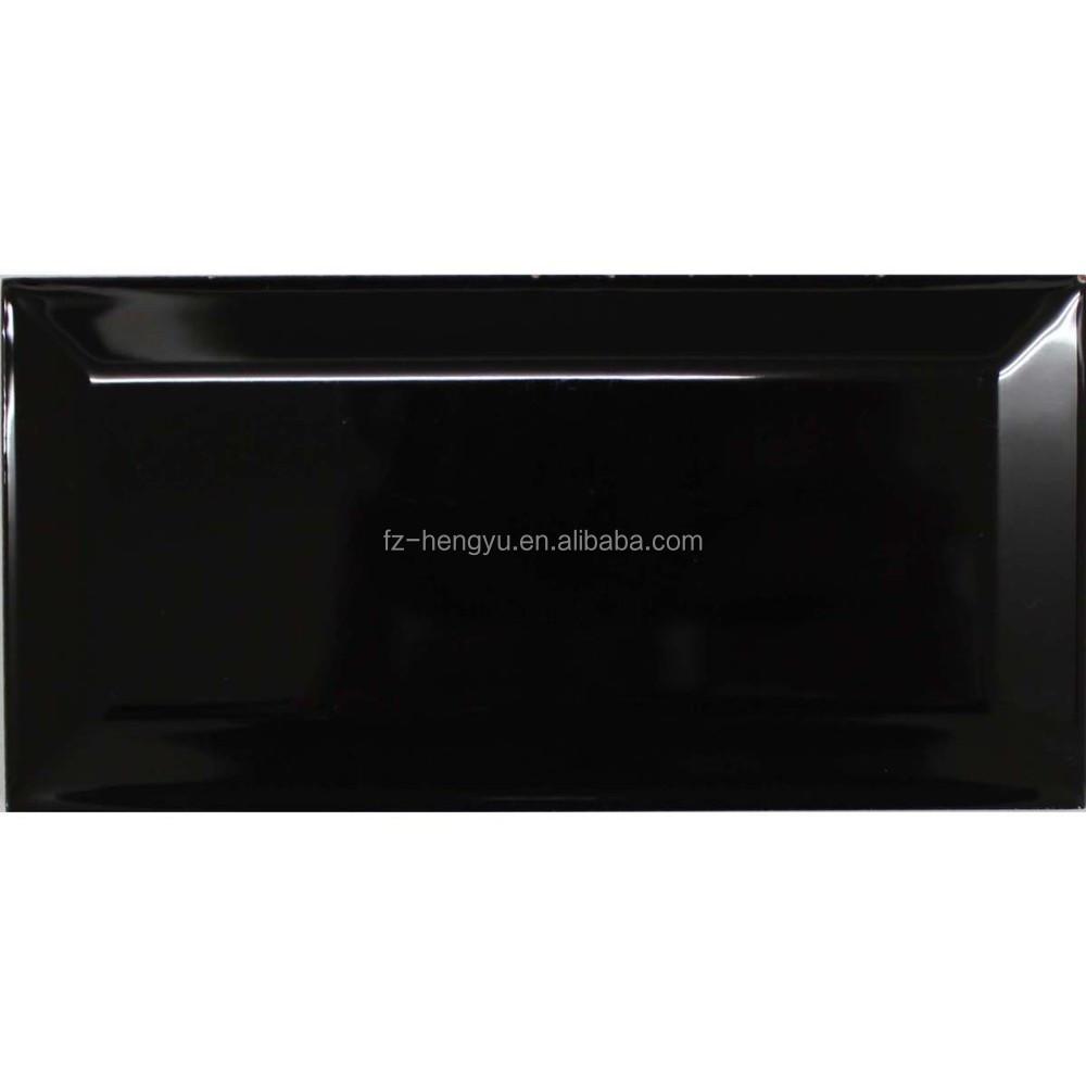 Céramique 100 x 200 mm metro noir cuisine carreaux de mur tuiles ...