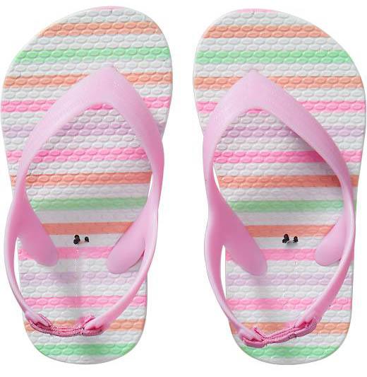 Simple Print Baby Girls Flip Flops