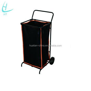 Lawn Garden Leaf Bag Cart /Folding Rolling Garden Cart,shape Handcart  Canvas Tool Cart