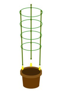 "Mr.Garden Mini Trellis Garden Trellis for Potted Climbing Plants Support 7"" Dia x 8.1"" Dia x 9"" Dia x 10.23"" Dia x 35.4"" H,4 Rings, 3 Sets"