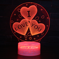 Zhongshan Electronic Gift 3D Love Night Light Holiday Gift For Valentine's Day