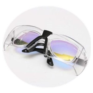 Weimeng brand 808nm laser protective goggles with double deck frame for protect 780nm-850nm wavelength Reflection type