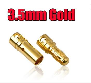 Female & Male Connector EC3 3.5mm Connector Bullet Plug Golden banana connector