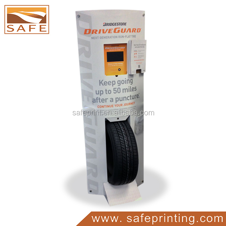 POP cardboard paper tire display stand