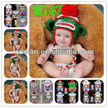 handmade cotton baby hats wholesale crochet animal monkey knit cap winter  earflap tuque infant toddler acrylic e07784a1a90