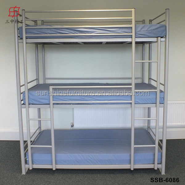 Cheap metal adult 3 tier triple bunk beds sale for adults - Literas para adultos ...