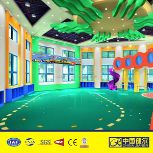 PVC roll floor colorful kindergarten indoor playground vinyl flooring for children