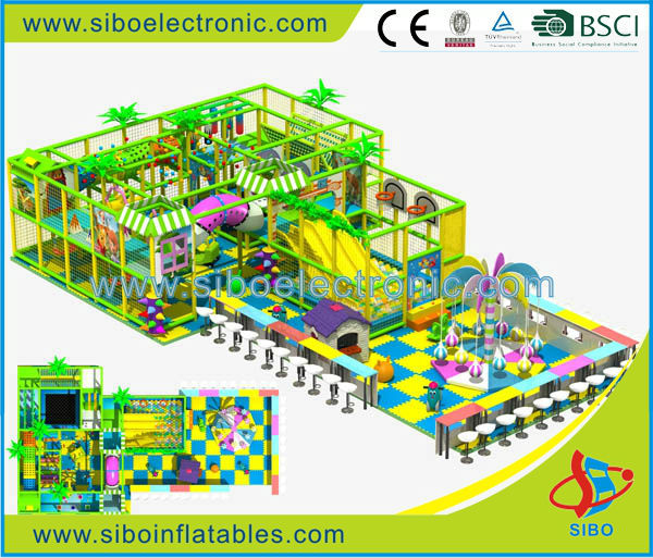 GM- 2016 small kids indoor playground with ball pool and slide