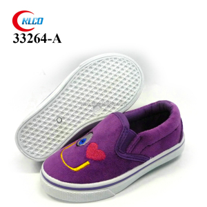 wholesale loafer kid girl cheap canvas shoes for kids