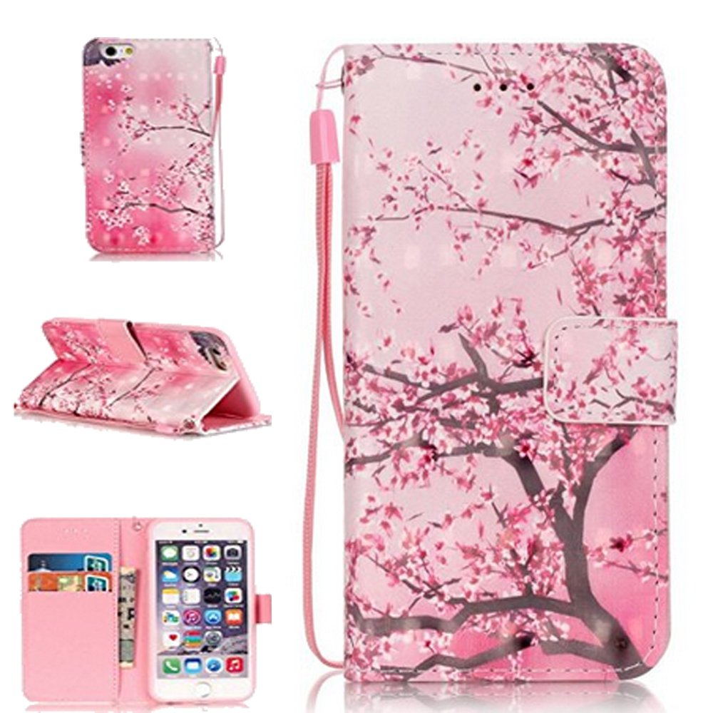 7 Plus Case, iPHone 7 Plus Wallet,iPhone 7 Plus Cases for women, Carryberry iPhone 7 Plus Covers,iPhone 7 Plus Cases,Flip Protective Cover Case for iPhone 7 Plus,Pink