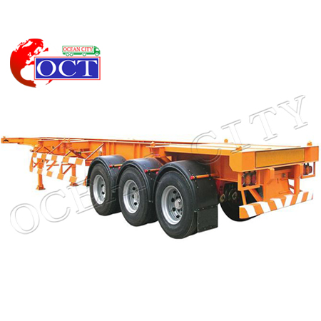 Sử dụng 3 trục 60 tấn 40ft container chassis bán xe tải trailer giá bán