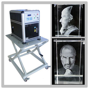 Second hand 3d photo crystal laser engraving machine for sale