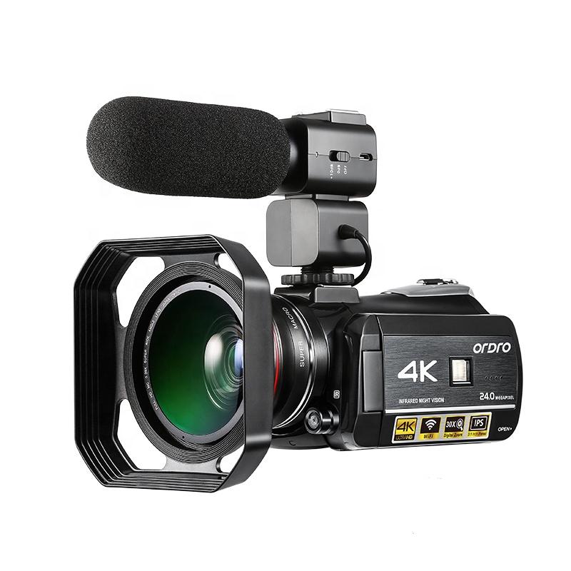 4K Camcorder Infrared IR Night Vision Camera Video Camera Professional Ordro AC3 Wifi Camera фото