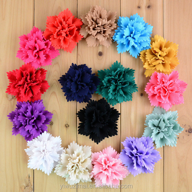 Handmade DIY Decorative Fabric Flowers For Clothing/Hats/Hair