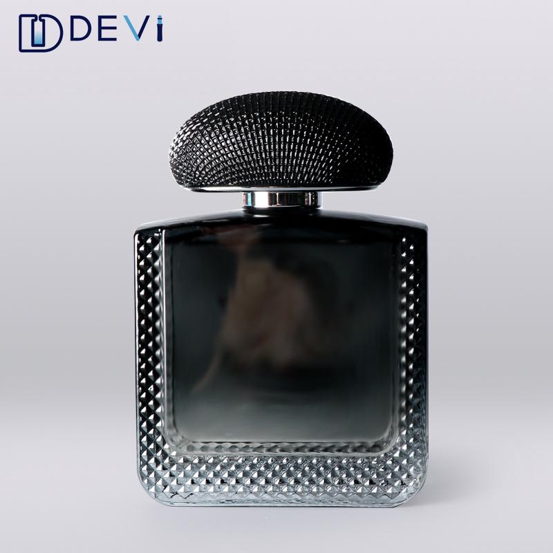 Devi High end 100 ml individuelles logo leer luxus design spray parfüm flasche