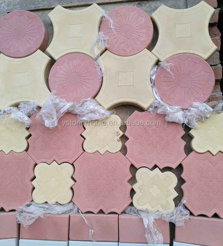 Different designs Interlocking precast plastic paving stone mould