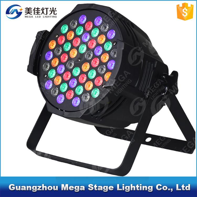 night club dmx par64 dj stage lighting led par light 54 rgbw 3w