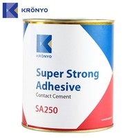 KRONYO shoe sole adhesive glue for synthetic leather shoe glue