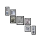 Custom Wall Picture Sets Black Wooden Photo Frame