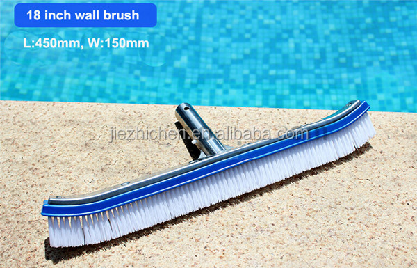 Factory Price Swimming Pool Brush 18inch Aluminum Wall Brush For Pool Wall  And Floor Cleaning - Buy 18\
