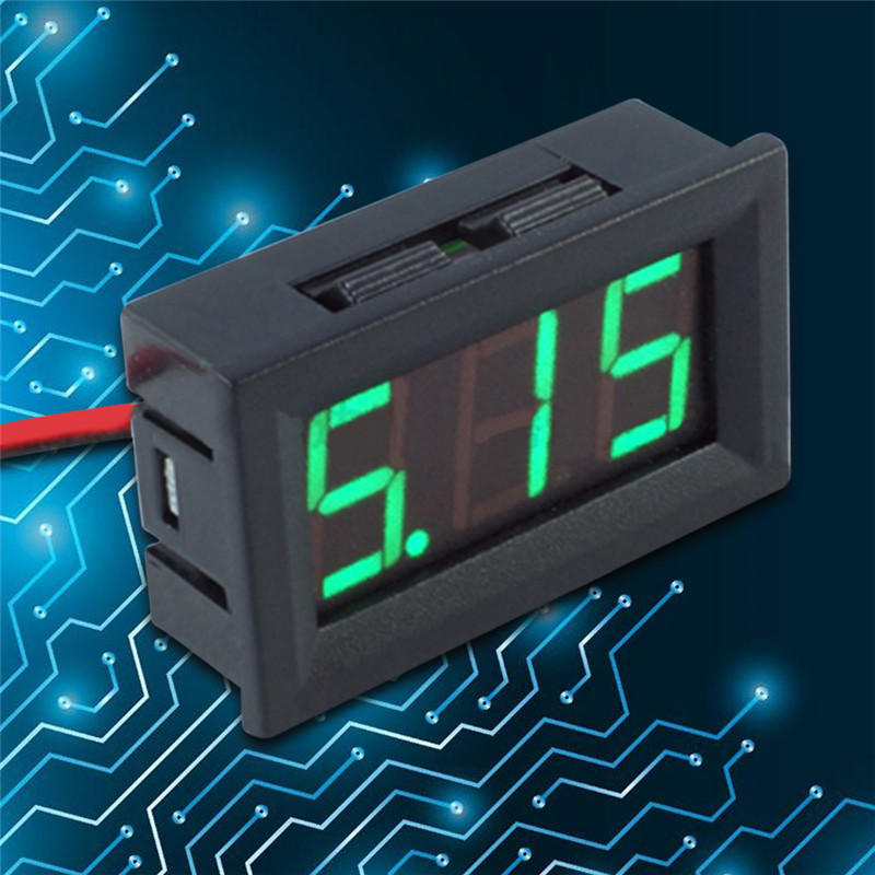 "Digital DC Volt voltage Meter Voltmeter 4.5-120V For car battery 0.56"" red blue green LED"