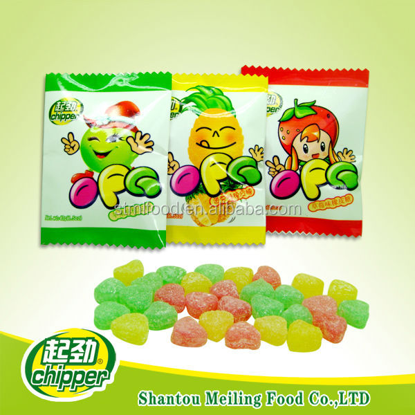 20g mix-fruit flavor heart shaped soft candy