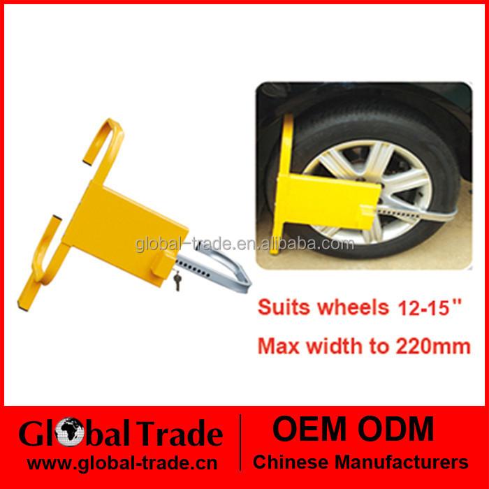12-15 Heavy Duty Steel 2 Key Lock Security Wheel Clamp