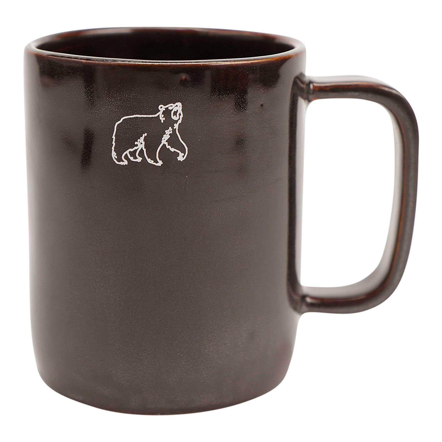 "FLOOR | 9 Brown Glaze Coffee/Tea Mug, ""Bear Brown"""