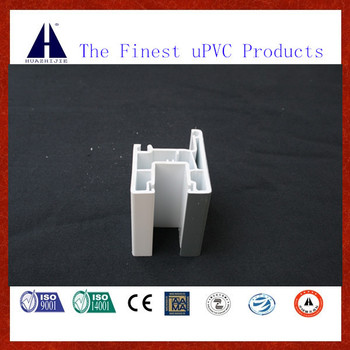 European 88 mm sliding window frame upvc profiles with Gray color co-extruded