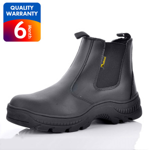 Rubber sole slip on safety boots,no lace mining safety boots,anti mine boots