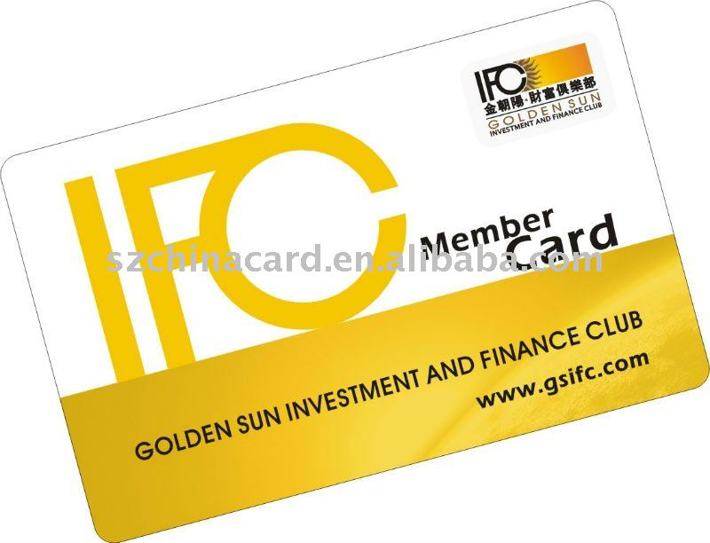Luxury Gold Hot Stamping PVC Business Card Membership Card