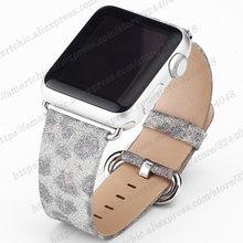 Кожаный ремешок для часов Apple Watch 5 4, 38 мм, 42 мм, ремешок для часов iWatch Series 5, 44, 3, 2, 1, женский браслет 40 мм, 44 мм(Китай)