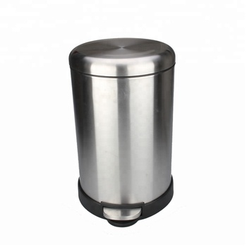 Round Step Trash Can,Fingerprint-proof Brushed Stainless Steel,4.5-liter  /1.2-gallon - Buy Stainless Steel Airtight Trash Can,Kitchen Stainless  Steel ...