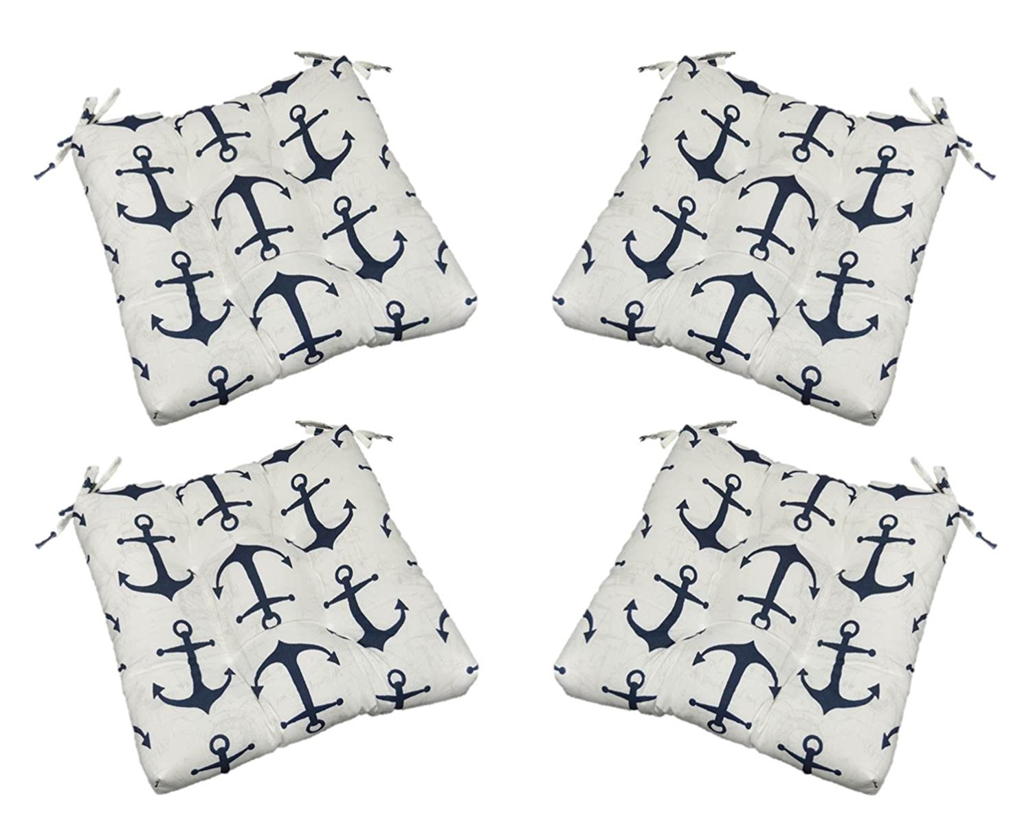 Awesome Buy Set Of 4 Indoor Outdoor Nautical Navy Blue Anchor Pabps2019 Chair Design Images Pabps2019Com