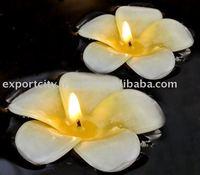 Plumeria frangipani flower floating candle 7cm, 8cm