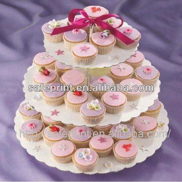 custom design cupcake affichage 3 tiers carton ondul gteau de mariage prsentoir - Presentoir Gateau Mariage