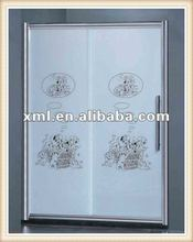 AS-L0053 Glass shower steam room with modern desin plastic shower screen