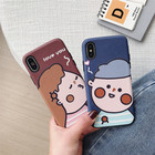 Cartoon Protective Embossed for iPhone X, Glossy Soft Flexible Protective Bumper Silicone Ultra-Thin Shockproof Rubber Cover