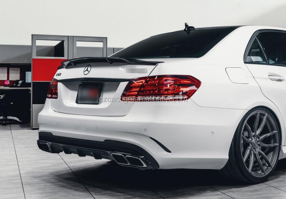 R Style For Mercedes Benz E Class W212 E350 E250 Carbon Fiber Rear Trunk Spoiler 2010 2016 Buy