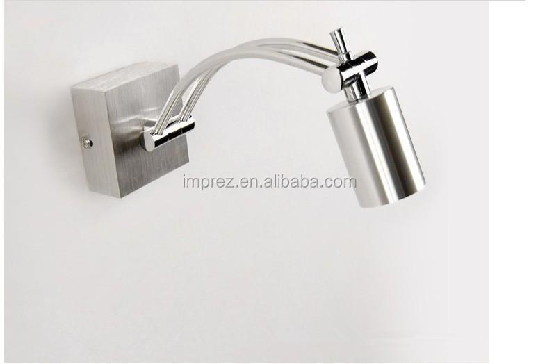 Led argento lampada da comodino lettura applique da parete w