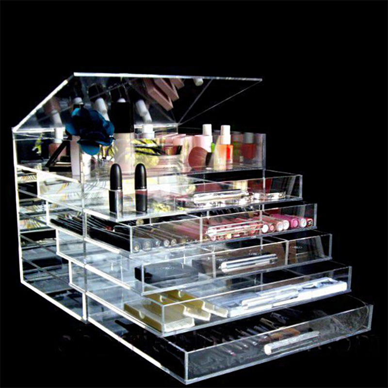 Clear Acrylic Makeup cosmetic Storage Organizer Display Box