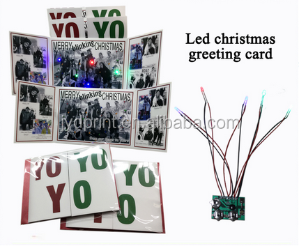Customized LED flashing music greeting card for promotion