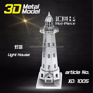 Wholesale Hot Sale Miniature 3D Metal Model Puzzles 3D Solid Jigsaw Puzzle Toys for Children Adult Free