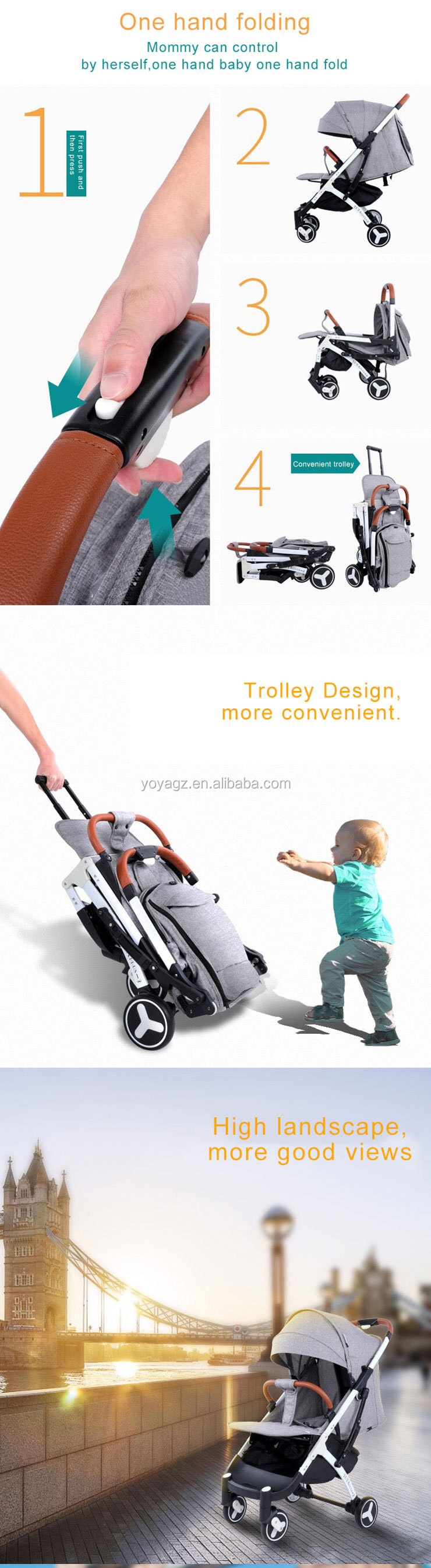 2019 new hot sell yoya baby stroller YOYA PLUS 3  Cheap baby stroller manufacturer
