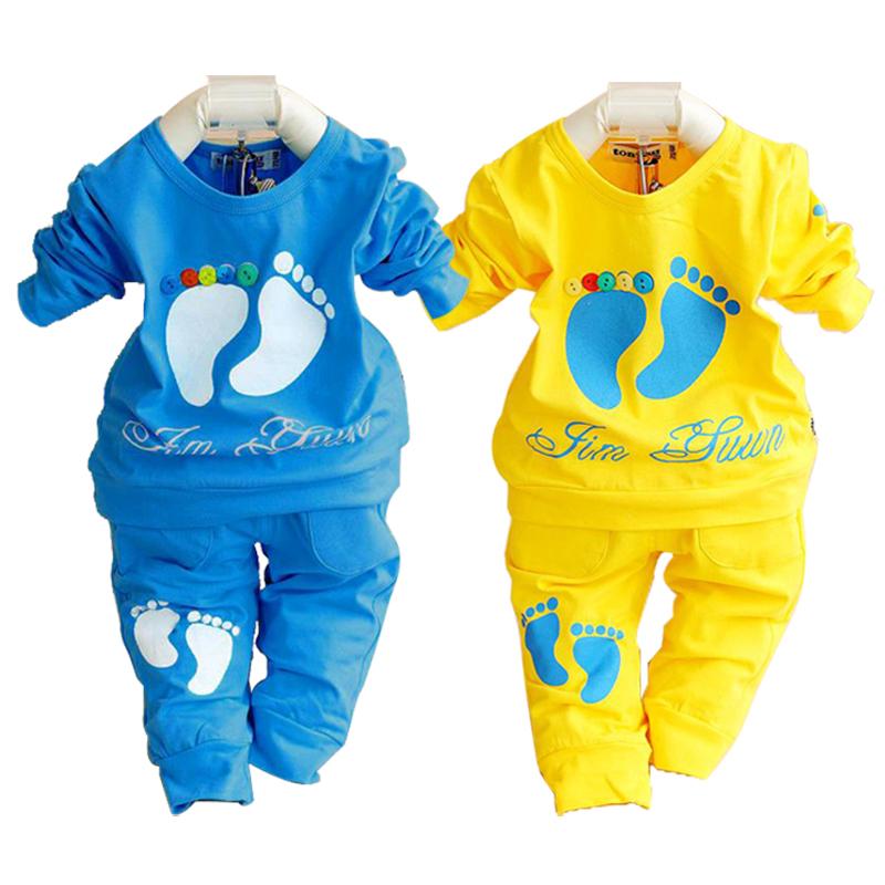 2015 Spring Autumn Baby Clothing Set 100 Cotton Newborn