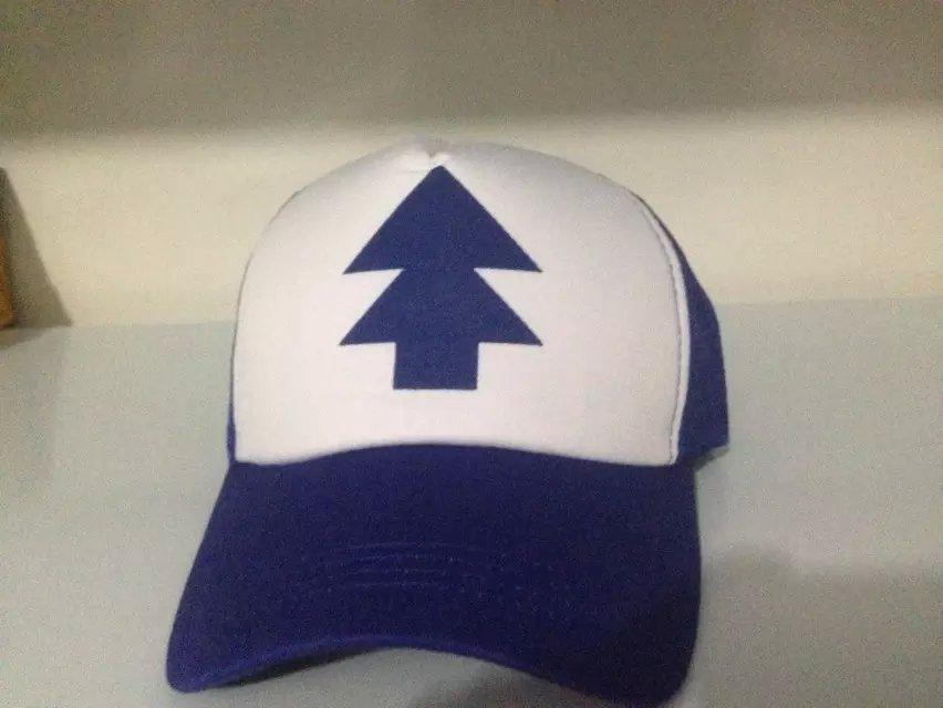 a3098c9a805d5 2015 New Curved Bill BLUE PINE TREE Dipper Gravity Falls Cartoon Hat Cap  Trucker Free Shipping